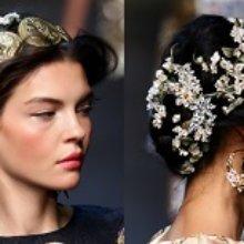 Dolce & Gabbana весна-лето 2014 прически и аксессуары для волос