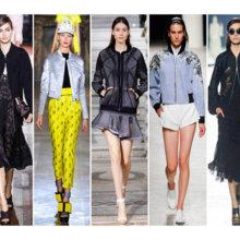 Модные куртки бомберы весна-лето 2014