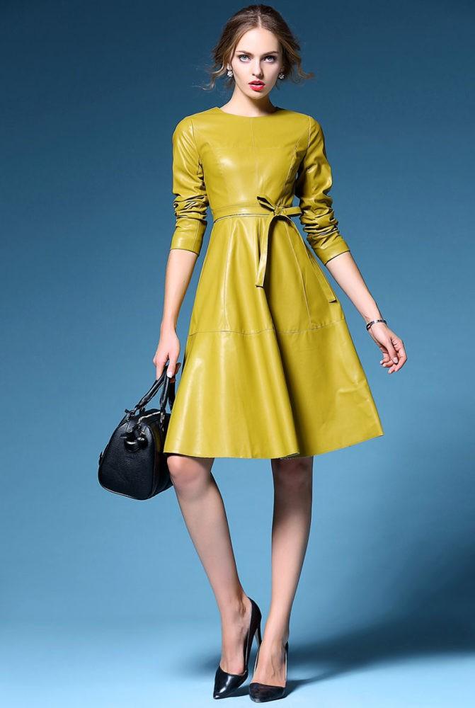 Стильные образы после которых Вам захочется купить кожаное платье