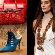 Обувь, сумки, бижутерия из коллекции Версаче осень 2014-2015