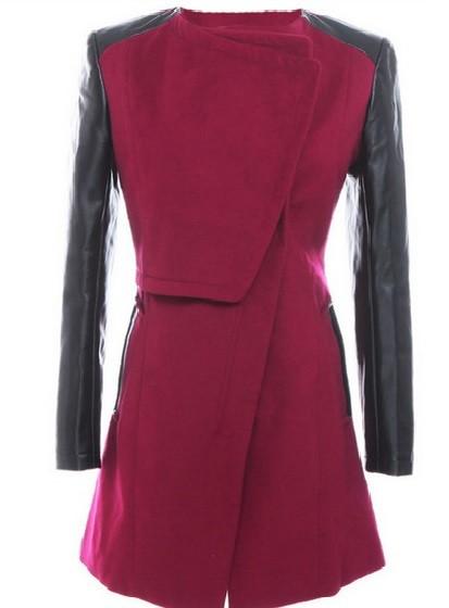 пальто с алиэкспресс бордовое