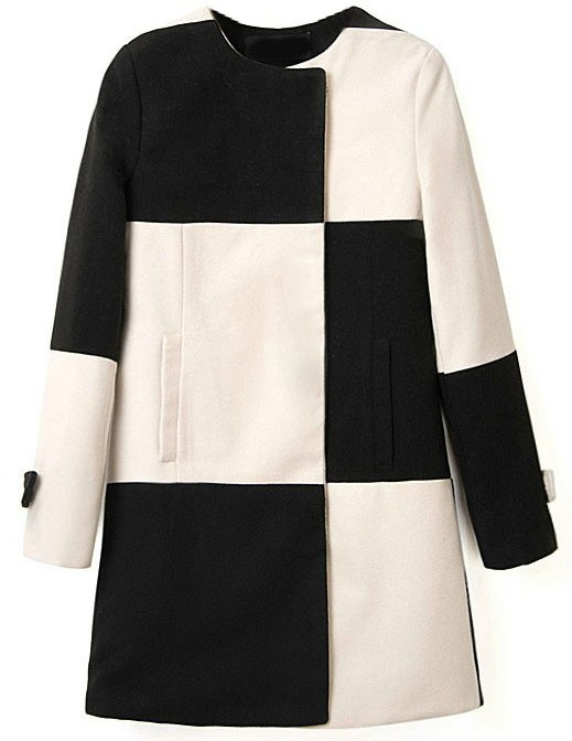 пальто с алиэкспресс черно белое