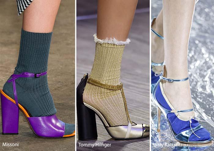 модная обувь осень зима 2016 2017 туфли с носками