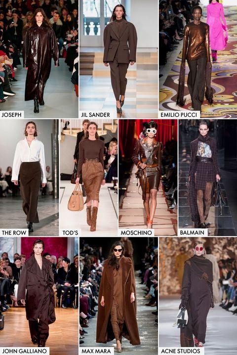 Модные тренды осень-зима 2017-2018 - шоколадно-коричневый цвет