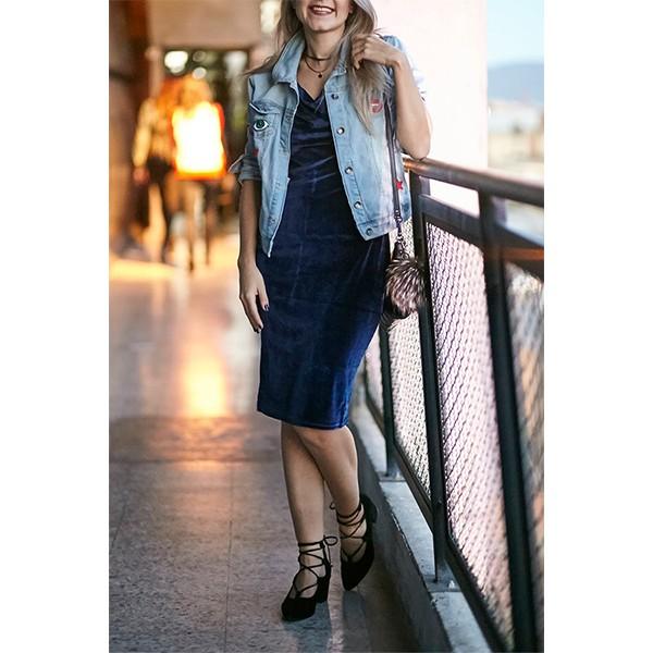 фото-синее-вечернее-бархатное-платье