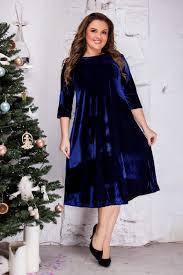фото-синее-бархатное-платье-новогоднее-вечернее.j