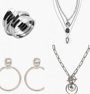 изображение серебряные кольца браслеты серьги