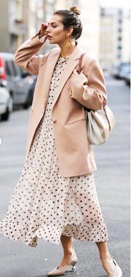 фото платье в горошек пиджак