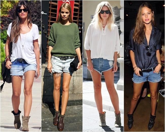 фото джинсовые шорты лето