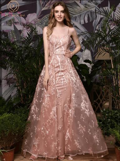 фото выпускное платье длинное розовое