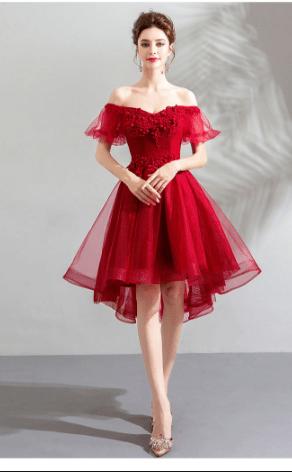 фото выпускное платье красное 2021