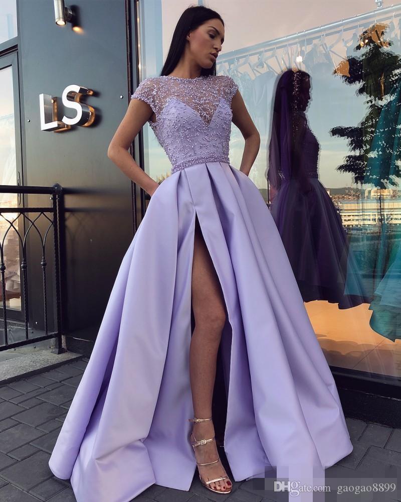 фото платье на выпускной сиреневое пышное длинное 2020 2021