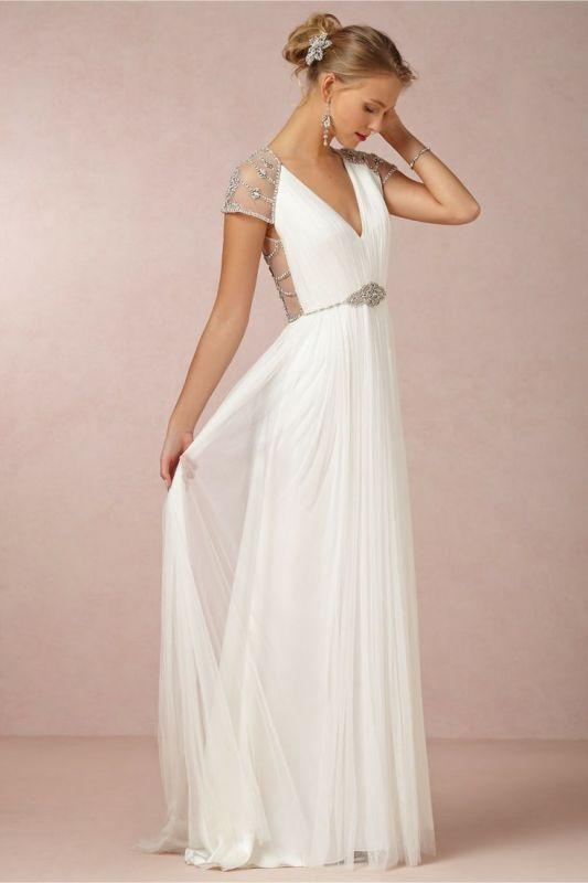 фото белое длинное платье на выпускной
