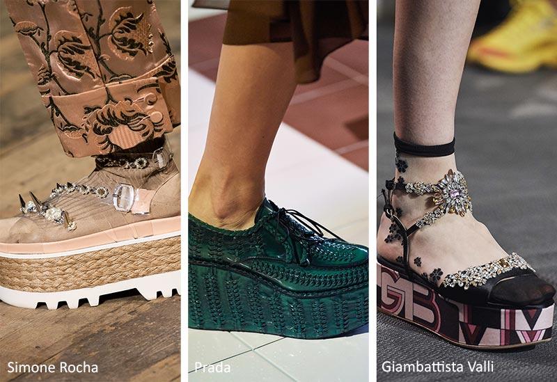фото модная обувь 2021 на платформе тостая подошва босоножки туфли летняя лето