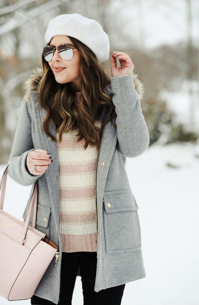 как носить женский берет зимой