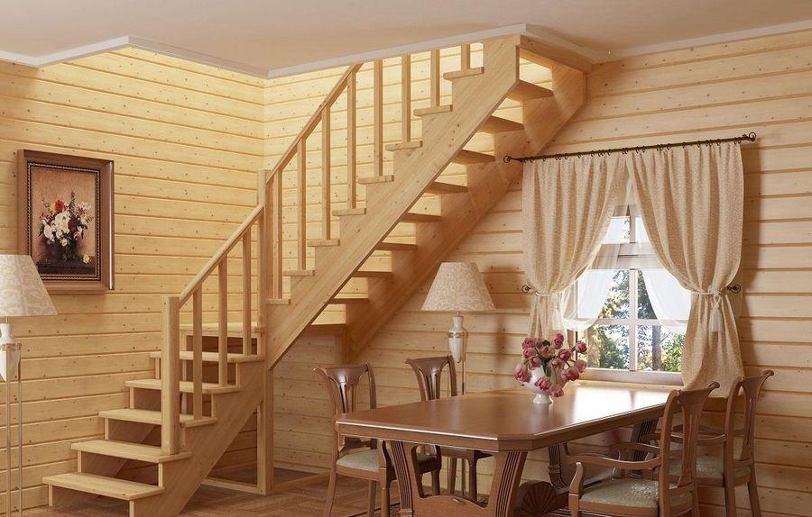 деревянные лестницы на заказ в спб