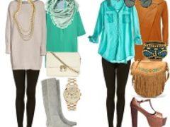 Модные советы с чем носить леггинсы