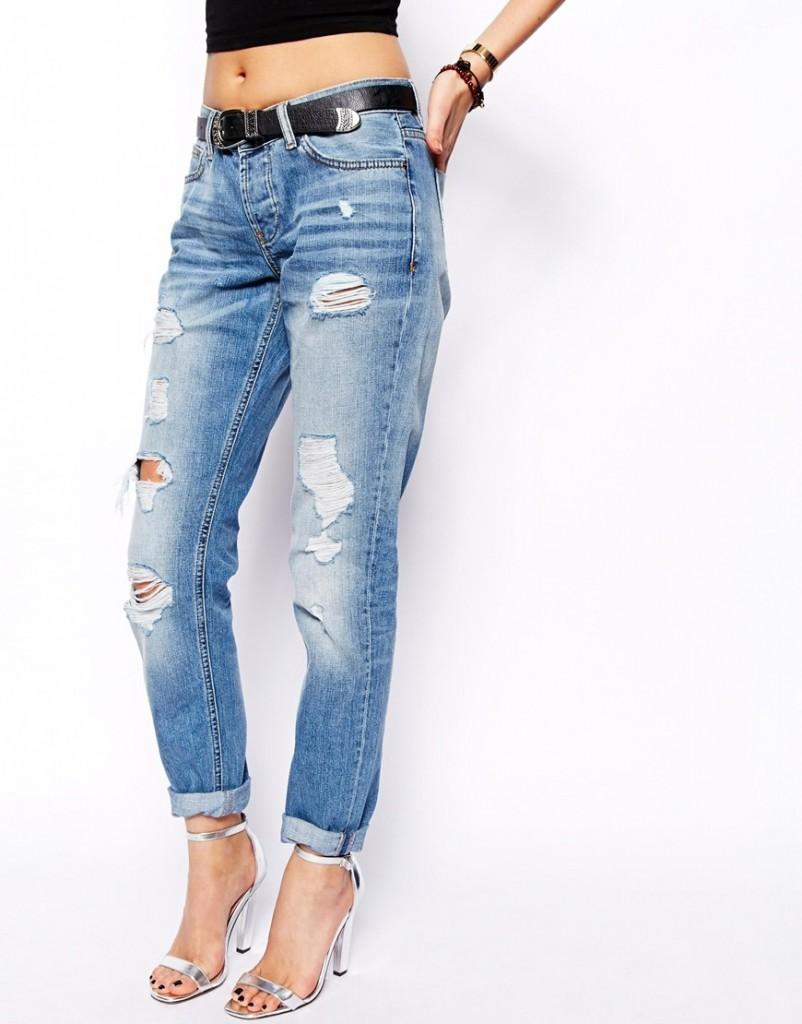 Узкие джинсы бойфренда с заниженной талией ASOS Brady