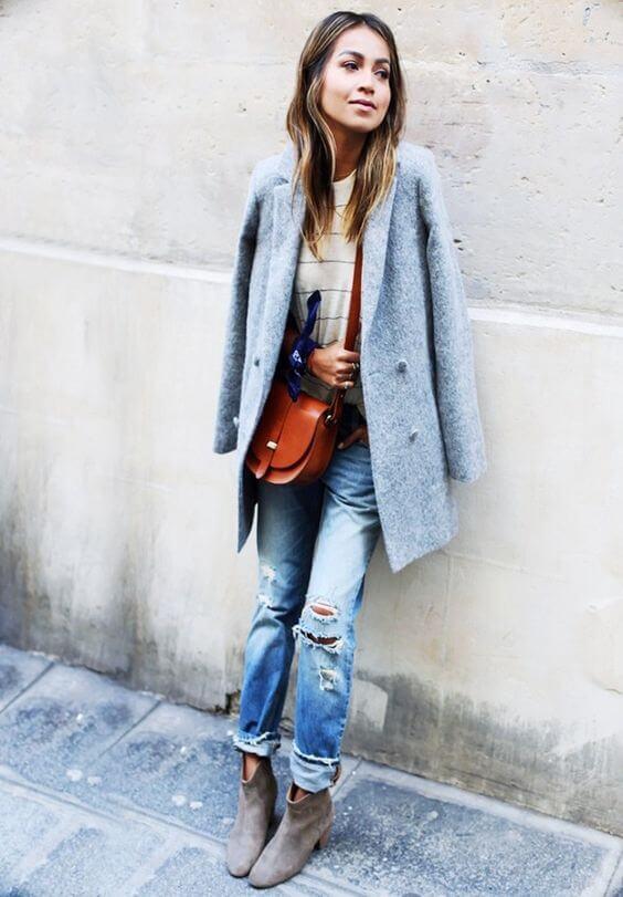 джинсы бойфренды с ботинками