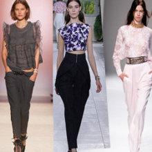 Модные брюки весна-лето 2014