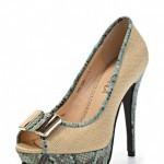 Бежевые туфли на каблуке Lamania