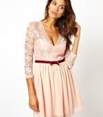 Платье розового цвета Asos