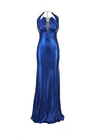 Corleone длинное синие платье на выпускной