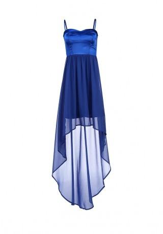 Lamania синие платье из шифона на выпускной