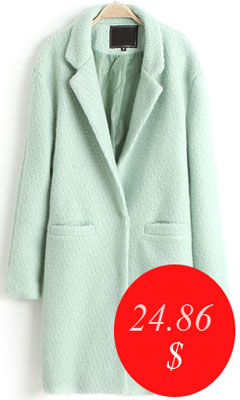 Мятное пальто на алиэкспресс - всего 24,86 $