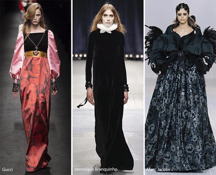 модные тенденции осень зима 2016 2017 - викторианский стиль