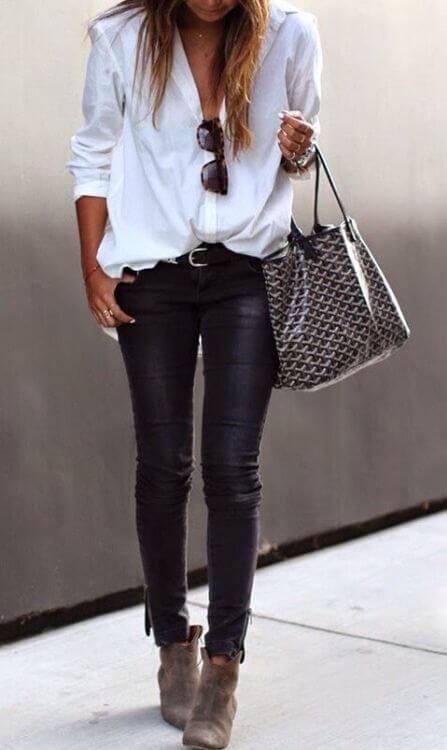 Сочетаем белую женскую рубашку правильно! Стильные образы с белой рубашкой