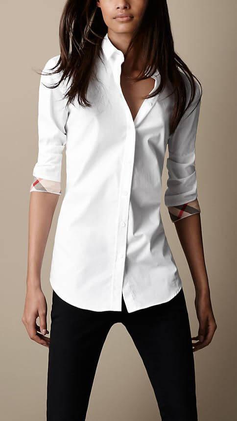 b7b3c5395f8 Сочетаем белую женскую рубашку правильно! Стильные образы с белой рубашкой