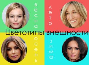 Описание цветотипов внешности — узнай кто ты! Весна, лето, осень или зима!
