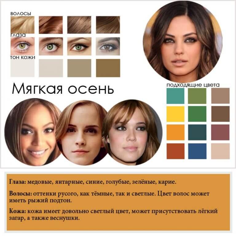 Цветотип волос прически