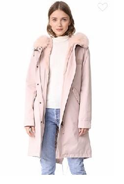купить куртку парку розовую
