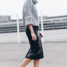 Самые удачные сочетания с чем носить кожаную юбку