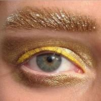Золотой макияж Christian Dior весна-лето 2014
