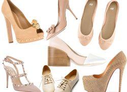 Бежевые туфли с чем носить, где купить и фото