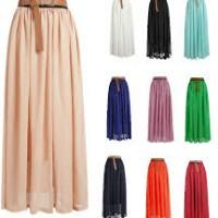 Модные советы с чем носить юбку макси